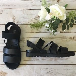 Mia Heritage Sandals Leather Strappy Platform 7